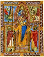 イエス・キリストから戴冠される聖ハインリヒ2世(『ハインリヒ2世のミサ祈禱書』より)