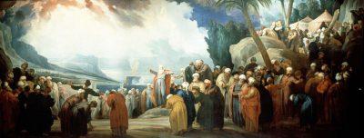 モーゼ、70人の長老を選ぶ(ジェイコブ・デ・ウィット画)