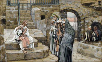 イエスと子供(ジェームズ・ティソ画)